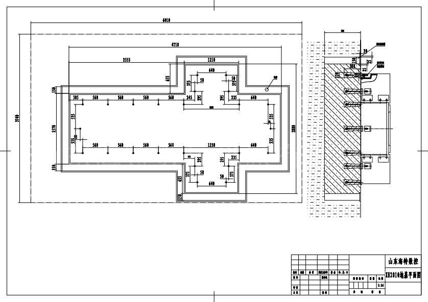 怎样做数控铣、加工中心、卧式加工中心、龙门加工中心地基图 数控铣、加工中心、卧式加工中心、龙门加工中心、对于地基的要求,大多数客户忽略了设备安装环境的要求,对于精密重型机床和数控机床制造厂、一般向用户提供数控机床基础地基图,为使机床在工作时保持其稳定性及工作精度,应按照机床地基图尺寸做好混凝土地基,地基应浇灌在坚实的土壤上。 机床安放在地基上之后,首先初步找正,然后用混凝土浇灌地脚螺钉,待凝固后,均匀地旋紧地脚螺钉,同时检查机床的水平,使其在工作台纵、横两方向上的允差为0.